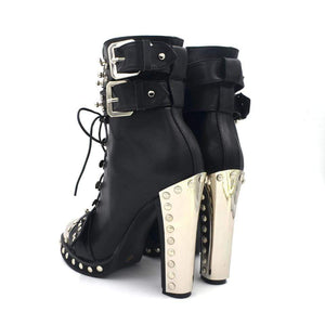 Chunky Army High Heels