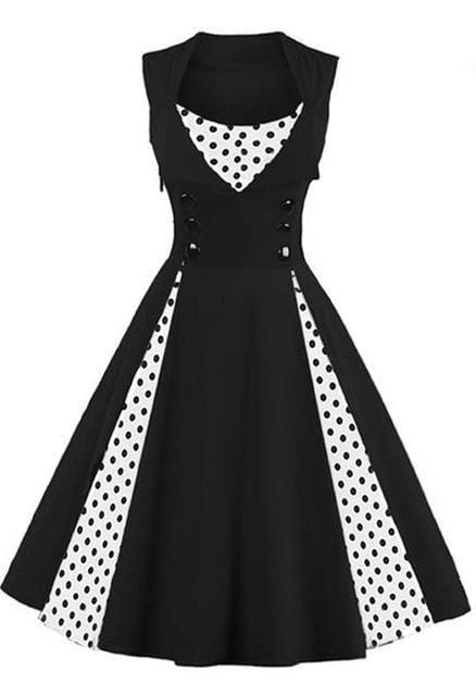 Retro Rockabilly Dress (black)
