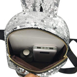 Rabbit Ear Sequins Backpack (gold)