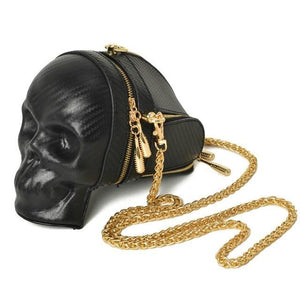 Skull Purse Bag with Gold Chain