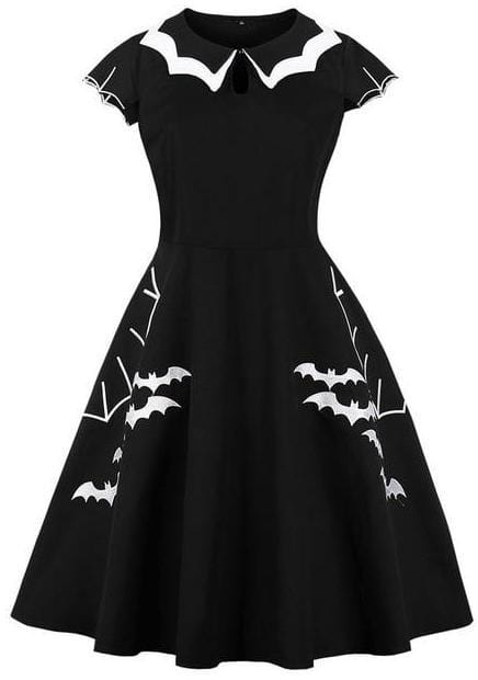 Bat Embroidery Party Dresses