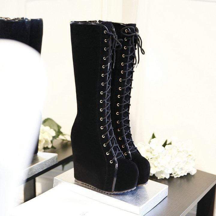 Adorable Lolita Fashion Lace Up Boots