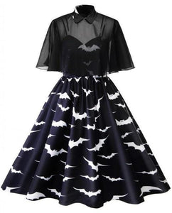 Bat Retro Cap Dress