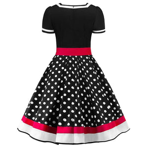 Vintage Polka Dot Sweetheart Dress