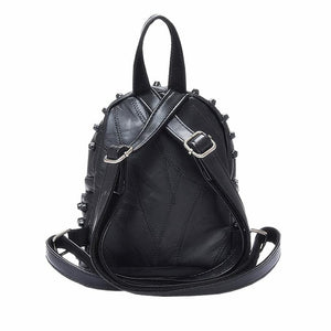 Aggressive Black Studded Backpack
