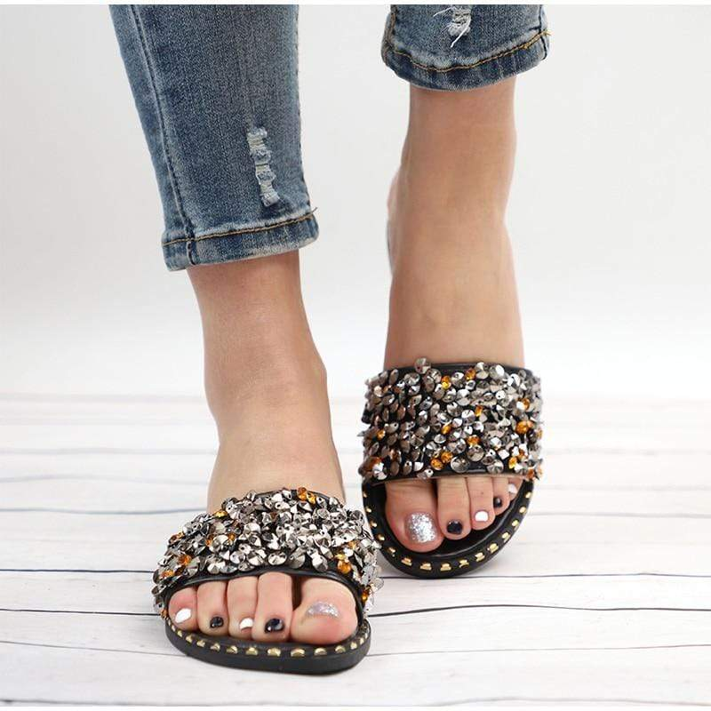 Spring Crystal Slippers