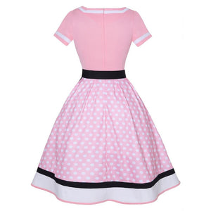 Pink Rockabilly Polka Dot Dress