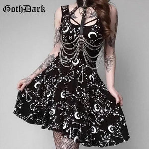 Goth Dark Elegant Grunge Dress