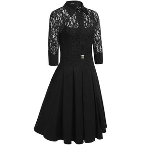 Retro Gothic Lace Dress