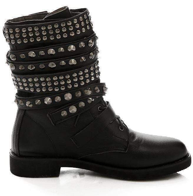 Ladies Punk Rock Revolution Boots Deadly Girl