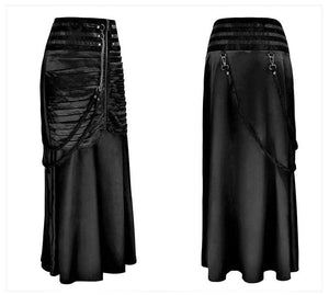 Womens Vintage Steampunk Skirt