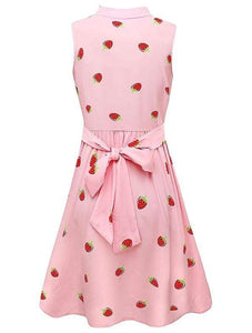 Japanese Strawberry Sleeveless Dress