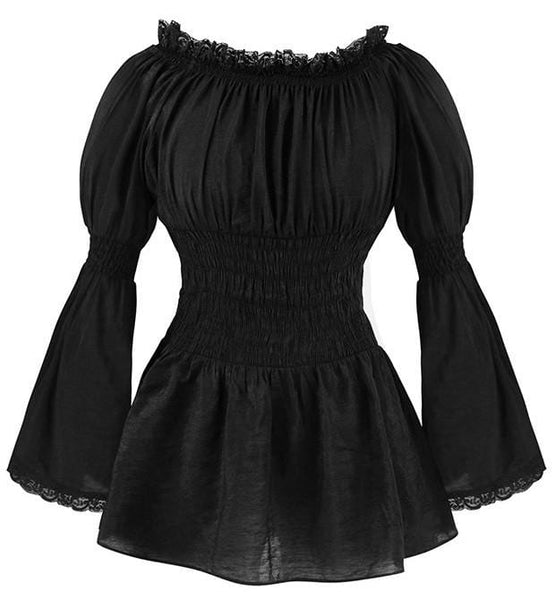 Discount Custom Made Vintage Victorian Medieval Style: Vintage Gothic Victorian Blouse