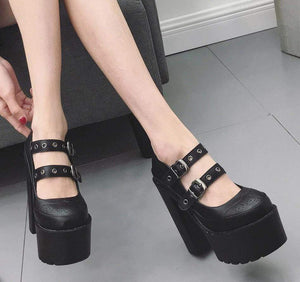 Thick Platform Mary Jane Sandals