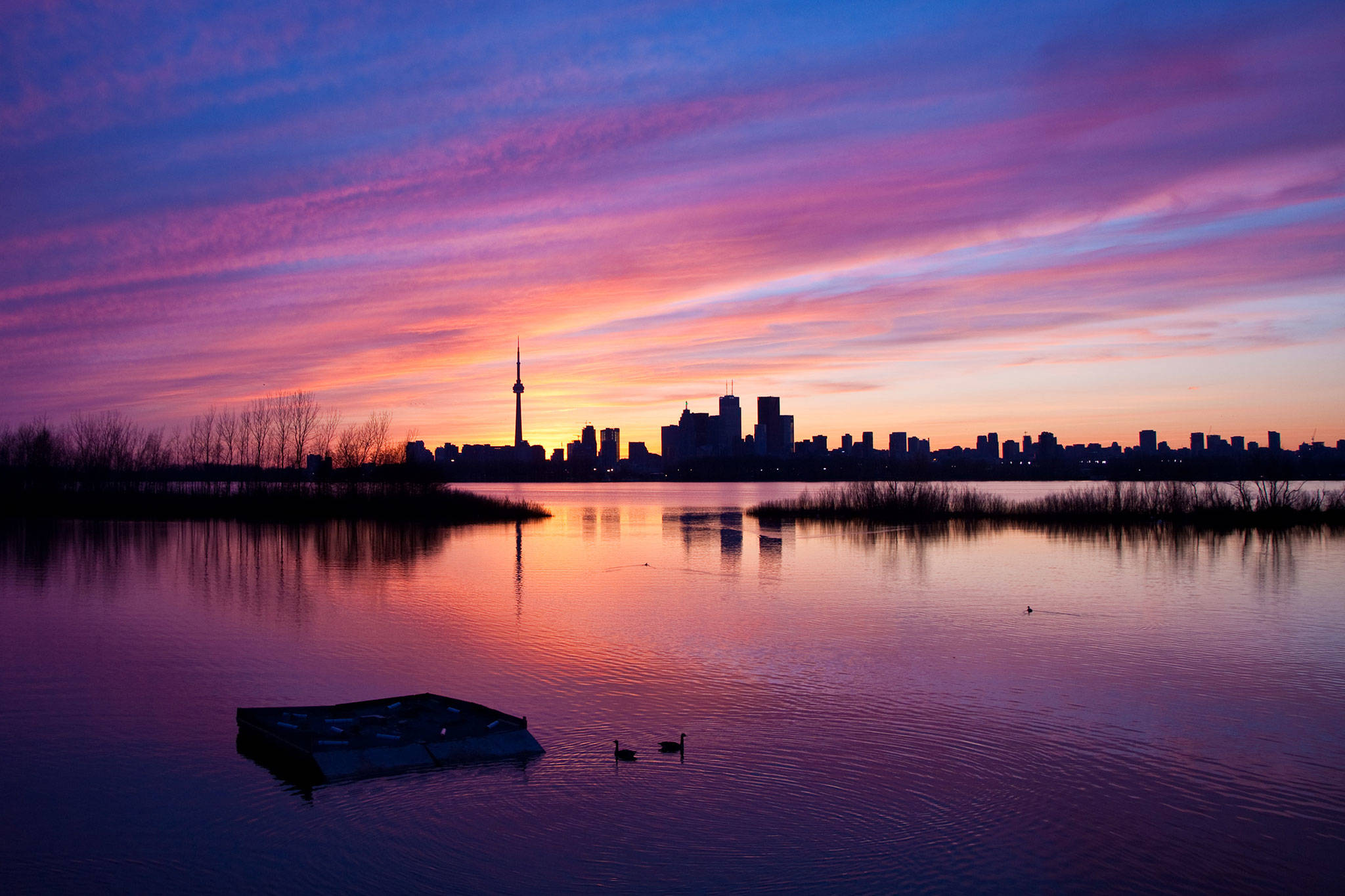 Sunset from Toronto Island