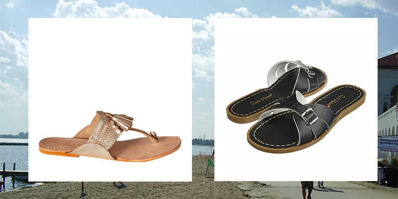 Star Mela and Salt Water sandals
