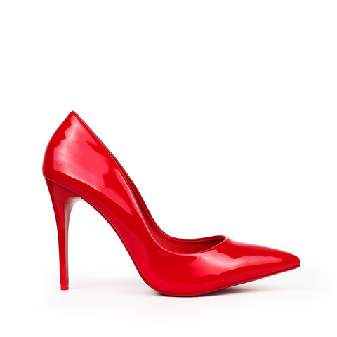 House of Hayla Red Crimson Heel
