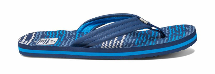 Reef Women's 02345 Little Ahi Blue M Kids Sandals Reef Kids 3/4