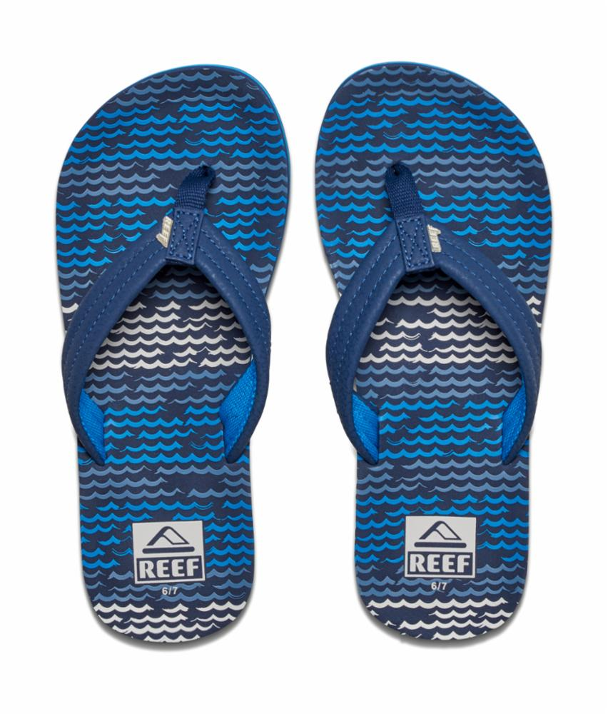 Reef Women's 02345 Little Ahi Blue M Kids Sandals Reef Kids