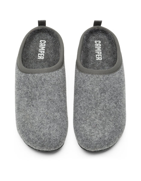 Camper Women's Wabi in Lt. Pastel Grey Slippers CAMPER