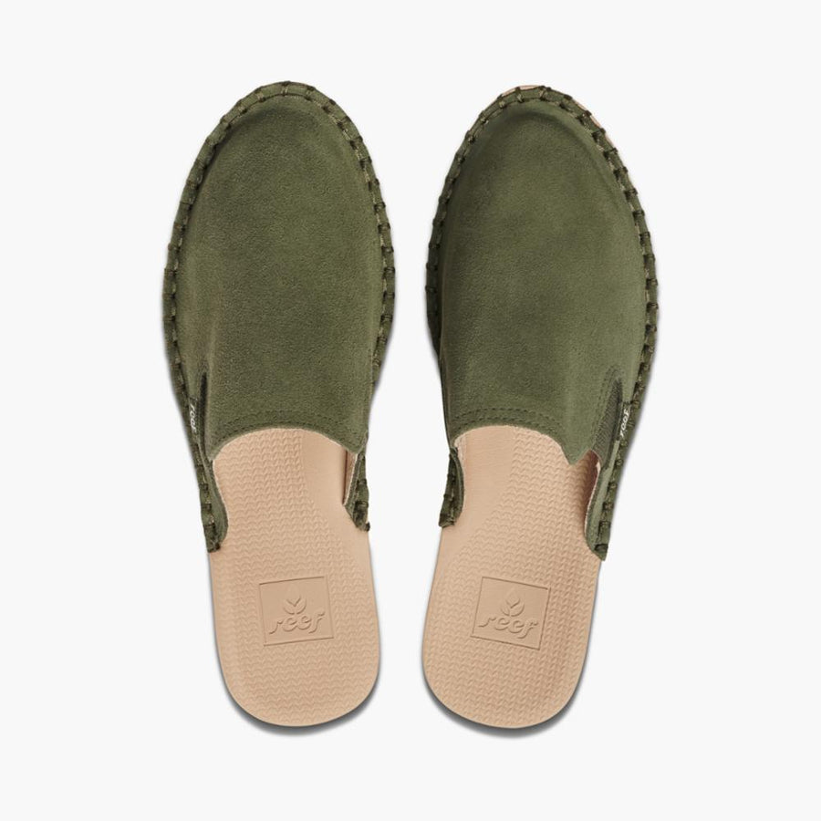 Reef Women's A3yor Reef Escape Mule Se Green M Flats Reef Women