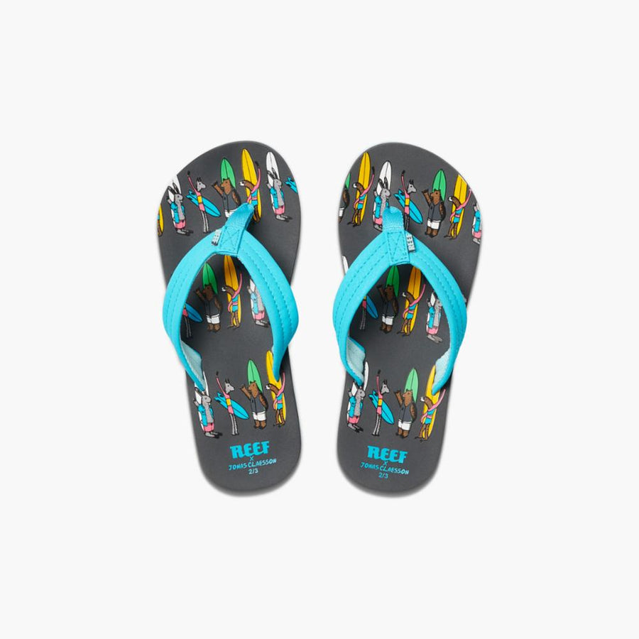 Reef Women's A3yp9 Jonas Claesson Kids Ahi Blue M Kids Sandals Reef Kids