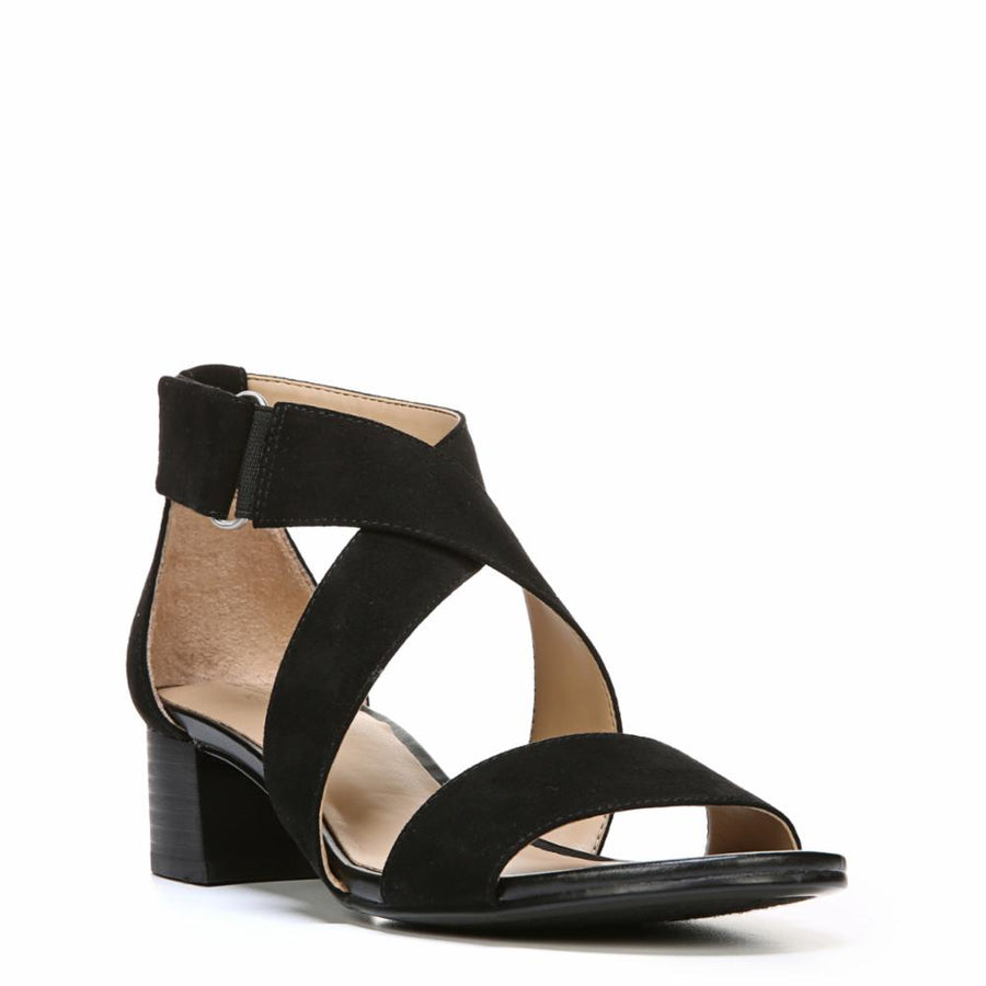 Naturalizer Women's Adele Black/Fabric M Sandals Naturalizer