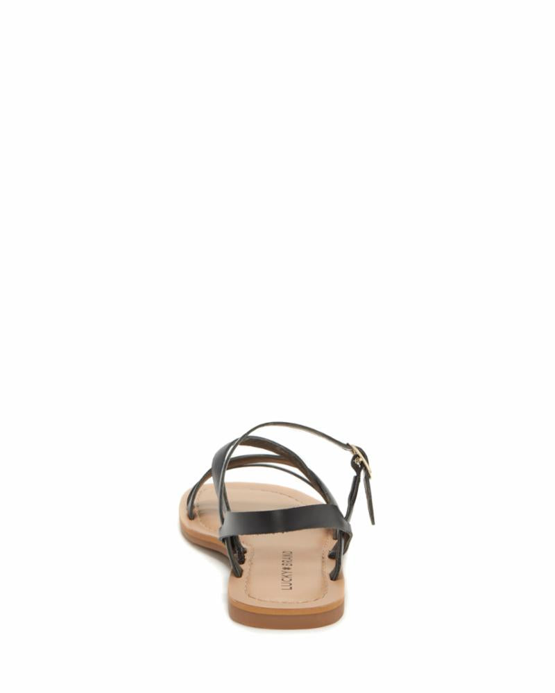 Lucky Brand Women's Bizell2 Black M Sandals Lucky Brand