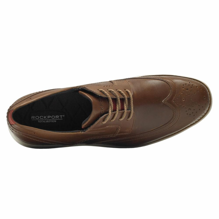 Rockport Men's Ch2508 Total Motion Sport Dress Brown M Dress Shoes Rockport Men
