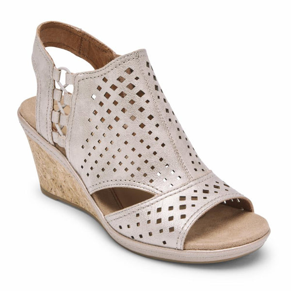 Cobb Hill Women's Ch9169 Janna Metallic M Sandals Cobb Hill