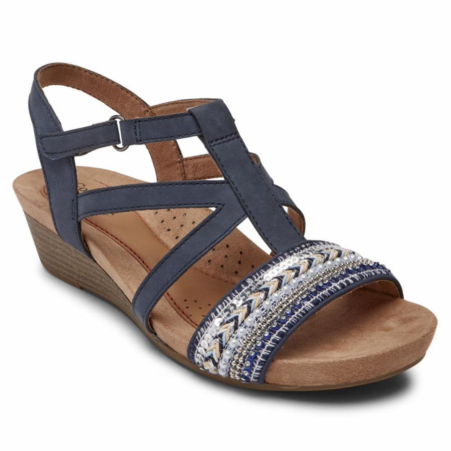 Cobb Hill Women's Ci0189 Hollywood Blue M Sandals Cobb Hill