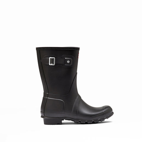 Hunter Boots Women's Original Short Classic Rain Boot in Black