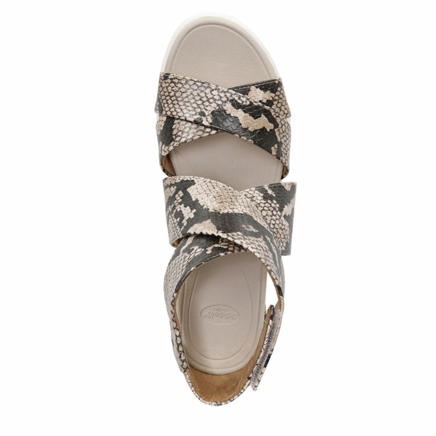 Dr Scholl Women's Shout Animal Print M Sandals Dr Scholl Women