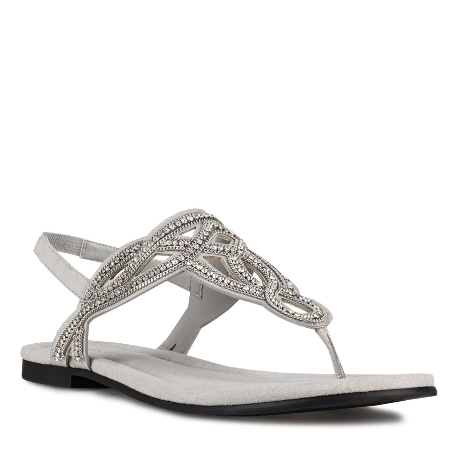 Bandolino Women's Kalier2 in Grey Sandals Bandolino