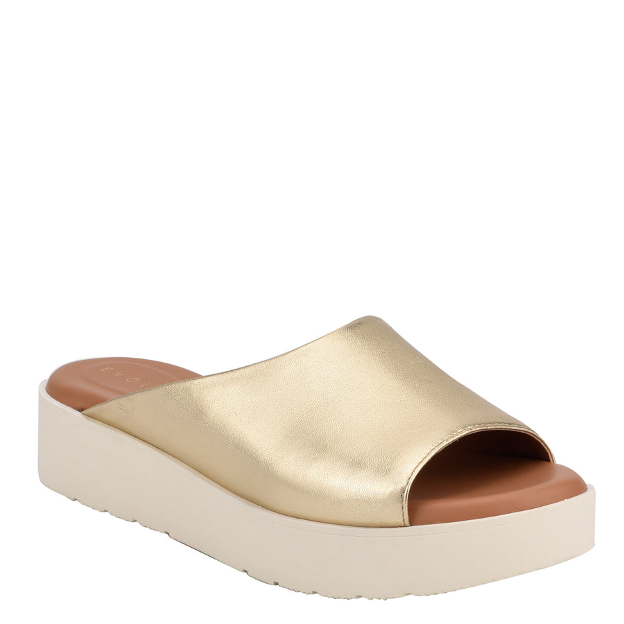 Evolve Women's Flora in Gold Sandals EVOLVE
