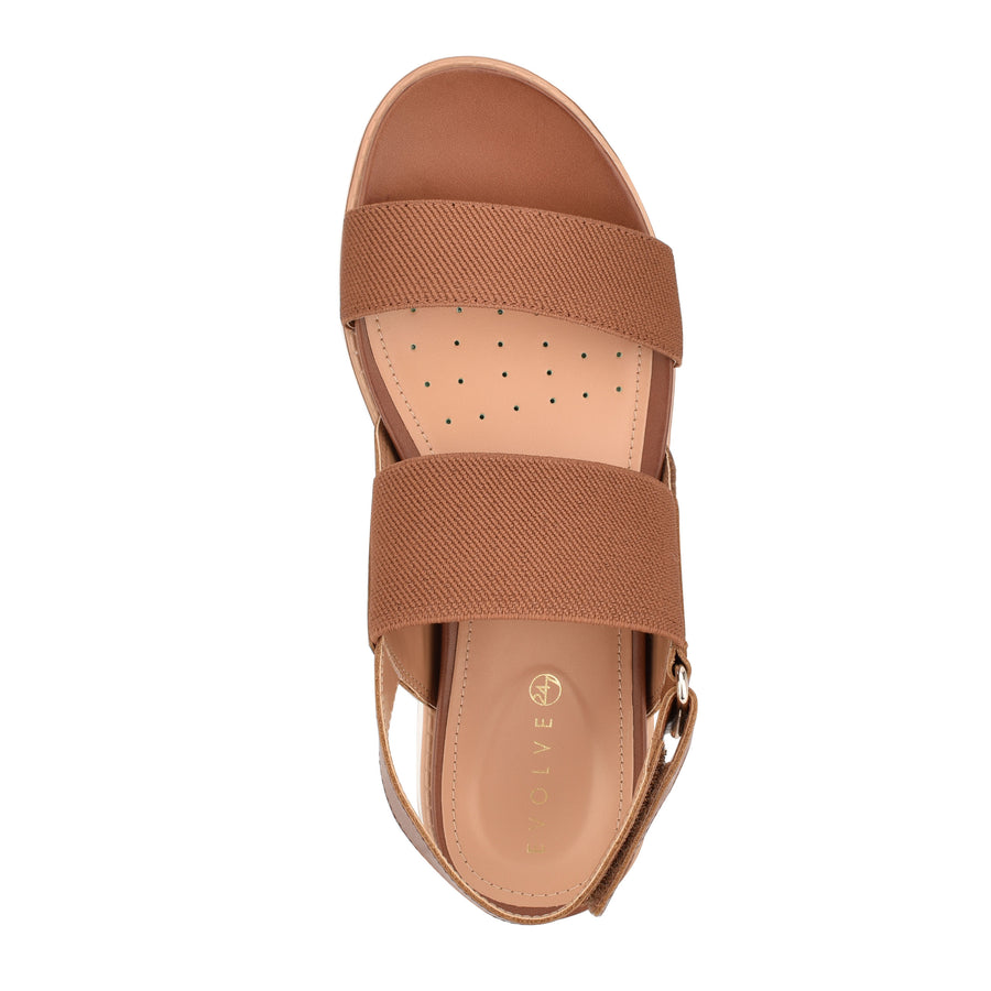 Evolve Women's Wren in Cognac Sandals EVOLVE