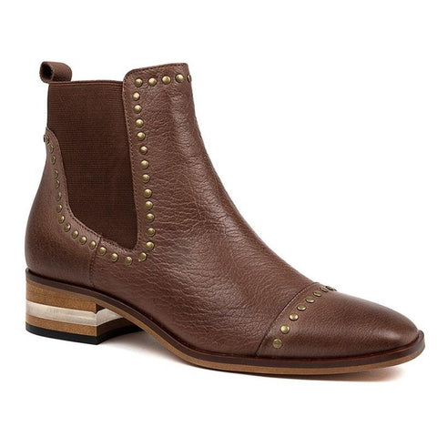 Django And Juliette Women's Ferras Ankle Boot in Brandy Boots Django And Juliette 36