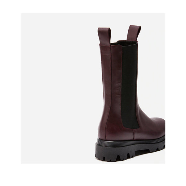 Flattered Women's Lia in Burgundy Boots FLATTERED