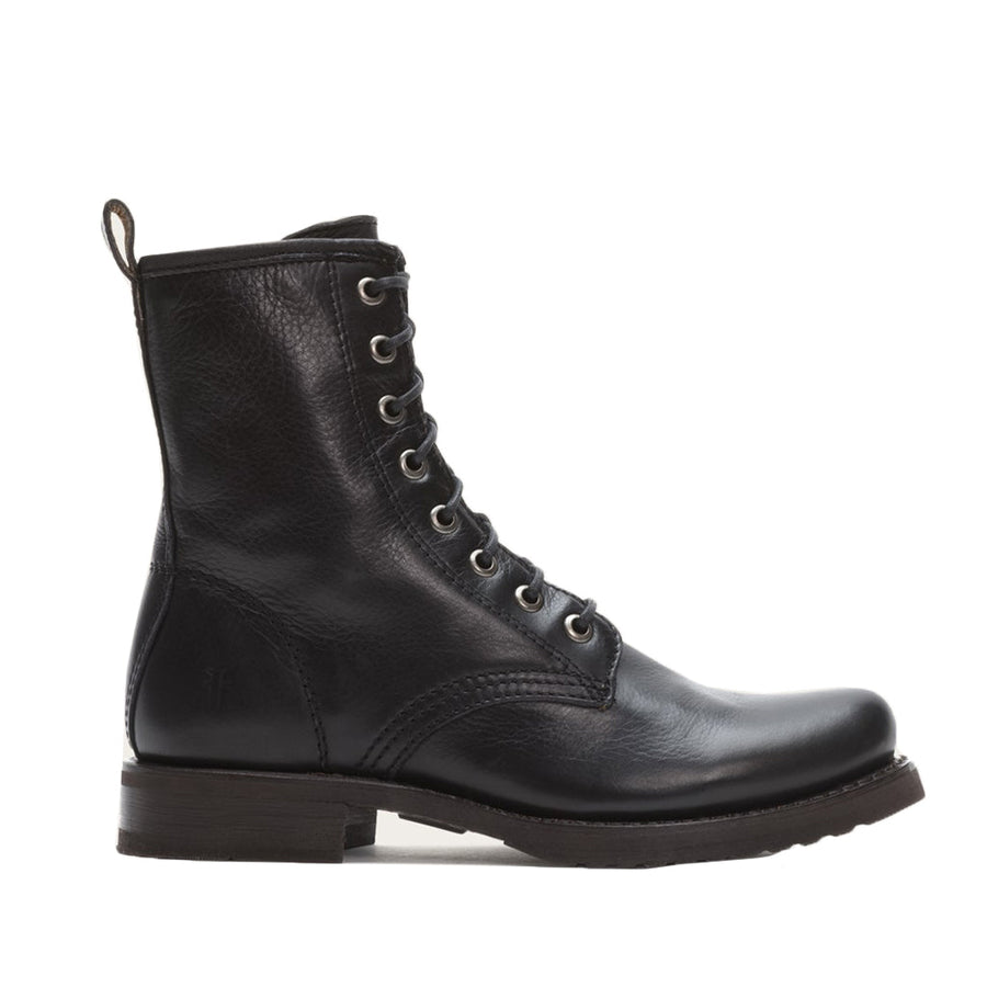 Frye Women's Veronica Combat in Black Boots FRYE 6.5