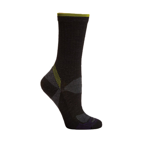 Goodhew Women's Quest Crew Socks in Black Socks Goodhew S/M