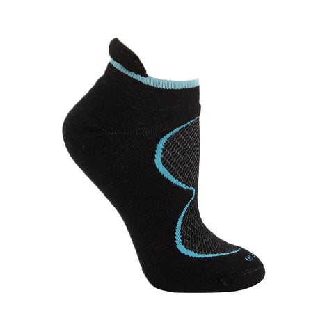 Goodhew Women's Sedona Micro Socks in Black Socks Goodhew S/M
