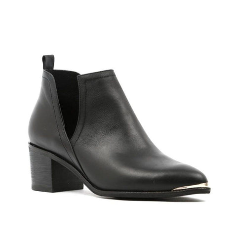 Django And Juliette Women's Henton Heeled Bootie in Black Boots Django And Juliette 36