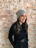 Carmody Alpaca Beanie in Cool Grey