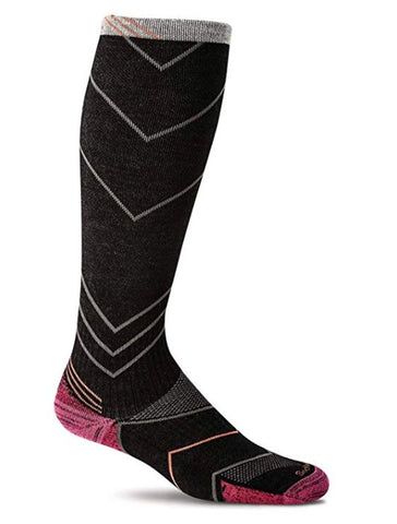 Sockwell Women's Incline Knee Socks in Black Socks Sockwell S/M
