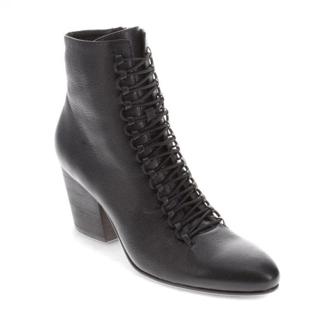 Django And Juliette Women's Inkjet Ankle Boot in Black-Black Heel Boots Django And Juliette 38