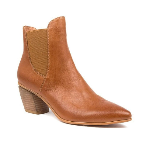 Django And Juliette Women's Jinks Heeld Ankle Boot in Tan Boots Django And Juliette 36