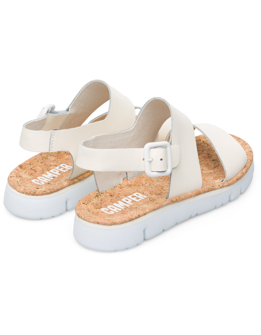 Camper Women's Oruga Sandal in Light Beige Sandals CAMPER
