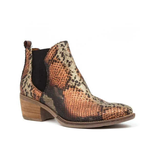 Django And Juliette Women's Linger Snake Ankle Boot in Rustic Boots Django And Juliette 36