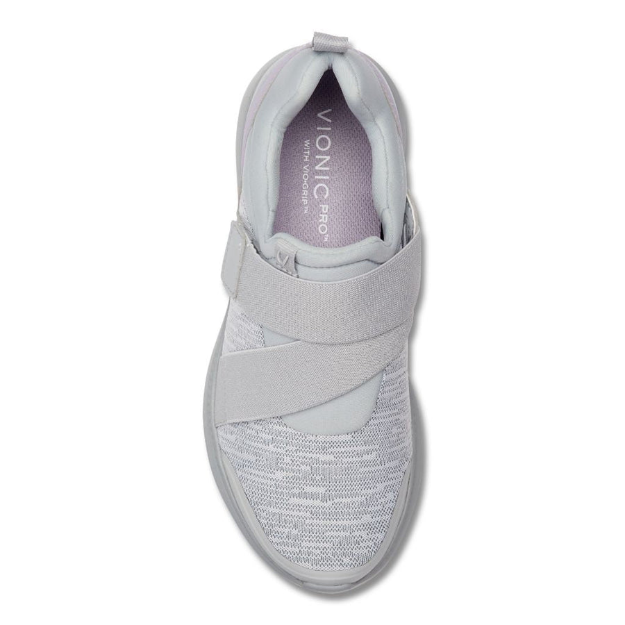 Vionic Women's Marlene Pro Slip On Sneakers in Grey Sneakers Vionic