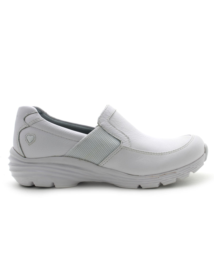 Nurse Mates Women's Harmony Shoe in White (Wide) Flats Nursemates 6